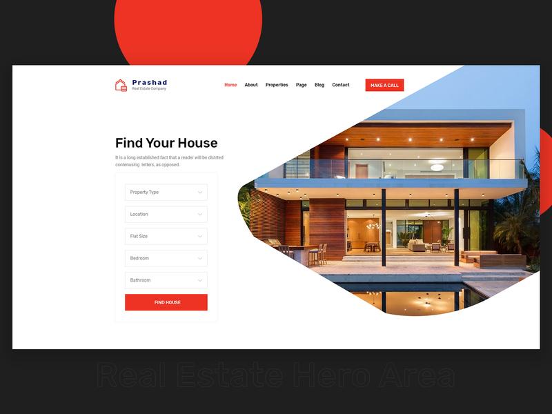 Real Estate Header Exploration by md ali reza sany on Dribbble