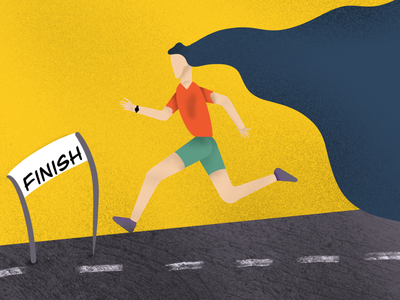 Finish line i procreate