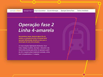 Metro Hotsite hotsite responsive design