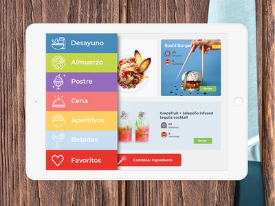 Coolcinar - Cook Ipad App ipad mockup mockup app illustration ui cooking app ipad application app concept ipad flat design