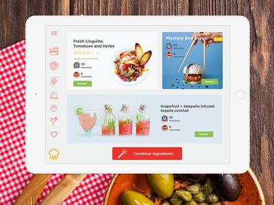Coolcinar - Cook Ipad App flinto ipad mockup ipad application flat illustration vector cooking app app concept app ui mockup design ipad