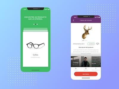 Skipti - APP to exchange stuff! e-commerce app app concept app ui mockup flat design