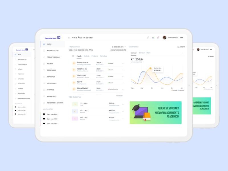 Bank Dashboard Concept app concept dashboard design dashboad bank dashboard bank app ui mockup flat design