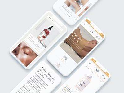 Neuffa | a Skin Care E-Commerce Website blog design ux web design responsive design website design web uxdesign uidesigner uidesign ui product page homepage e-commerce skincare
