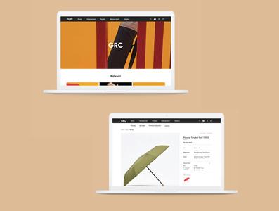 GRC Website Desktop Version website design web design web ux uxdesign uidesigner uidesign ui homepage product page e-commerce