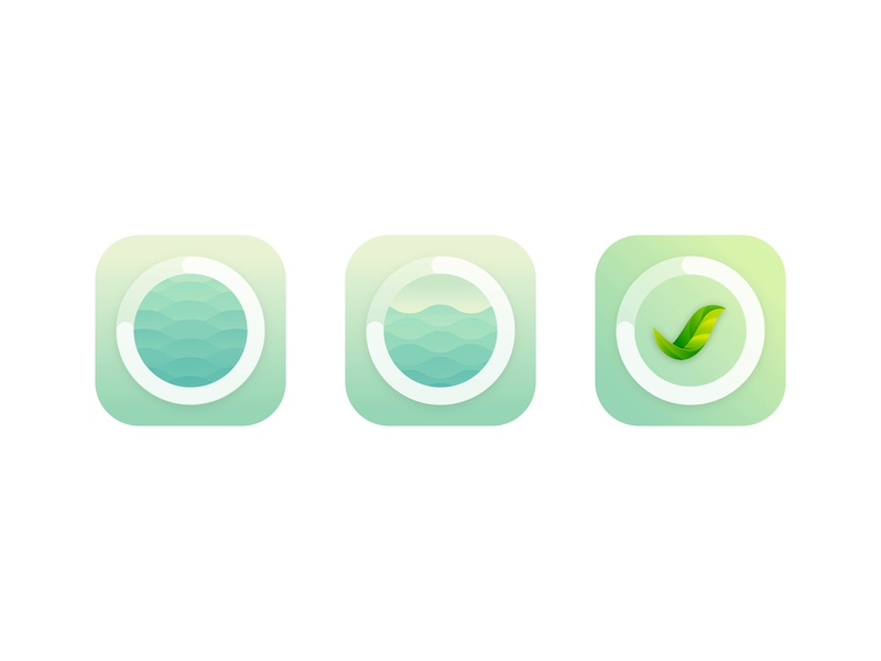 App Icon for Productivity App icon vector water leaf mint pastel nature timer focus icons app icon art color design