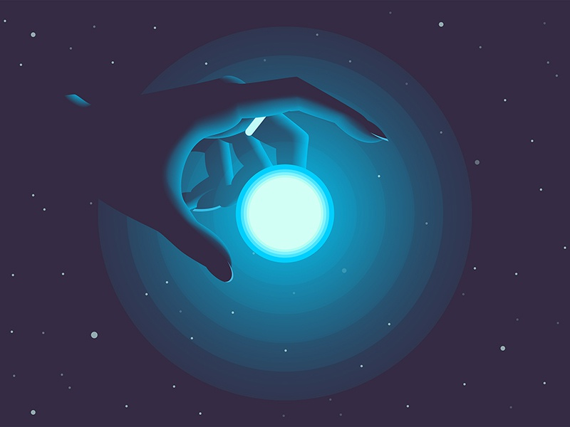 to reach for the stars stars star space light hand color art illustration design