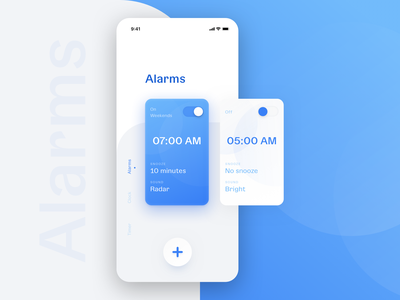 Alarm app clock alarm flat mobile minimal design ux ui app design app