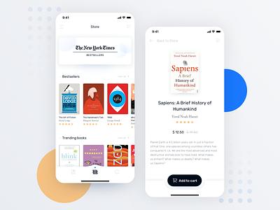 Ebook App icons button horizontal scroll ux design mobile app mobile ios app clean navbar store book minimal ui design ux ui app