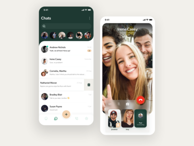 WhatsApp redesign – Chats and Video call