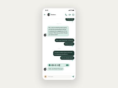 WhatsApp redesign – Chat & User Profile redesign whatsapp chat app chat avatar recording voice profile user messenger ux design navbar uidesign app design minimal clean ux ui mobile app