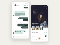 WhatsApp redesign – Chat & User Profile