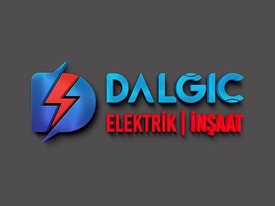 Dalgic | Construction & Electrical graphic logo electrical construction