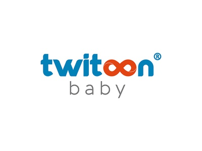 Twitoon Baby Logo graphic branding illustration design typography advertisement vector baby logo