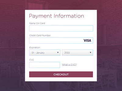 Credit Card Checkout 002 dailyui