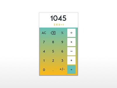 Calculator sketch 004 dailyui