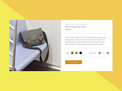 E-Commerce Shop - Single Item dailyui ecommerce 012