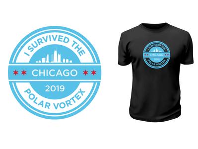 Chicago Polar Vortex 2019 vector adobe-illustrator vector art t-shirt design shirt t-shirt