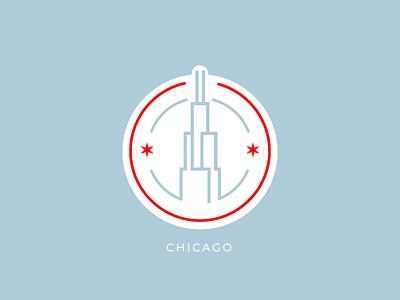 Chicago Badge minimal stamp icon chicago badge rebound vector adobe-illustrator