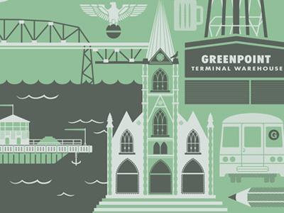 Greenpoint BKLYN poster illustration