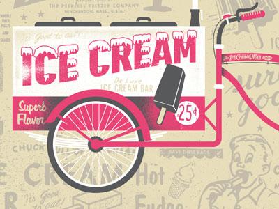 Ice Cream Man Cometh artcrank bikes icecream tasty screenprint