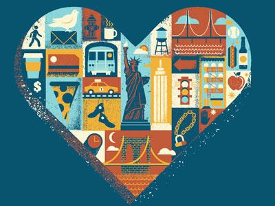 Brooklyn Is For Lovers screenprint apparel brooklyn heart stuff new york