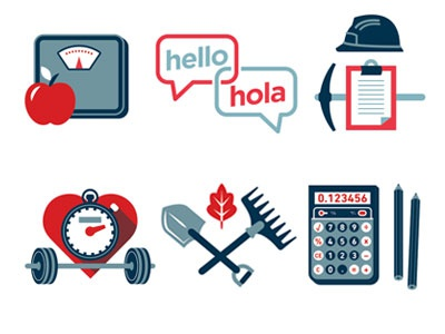 Job Icons simple editorial illustration icons vector