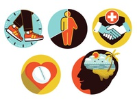 Health Icons editorial healthcare vector illustration