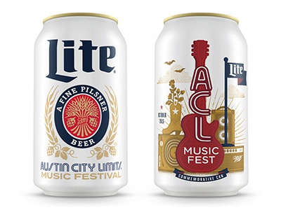 ACL Miller Can   Canning, Graphic design blog, Music city