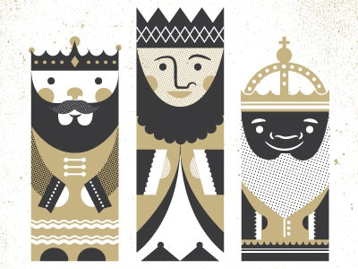 Three kings christmas cards illustration holiday cards stationery