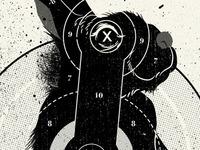 Tenderfoot Target-poster illustration