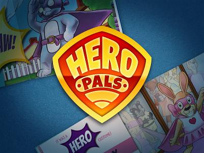 Hero Pals Logo story books children kids pals hero branding logo