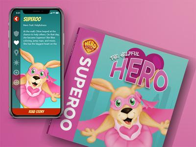 Hero Pals - Superoo Book and App children kids ui ux book app superoo pals hero