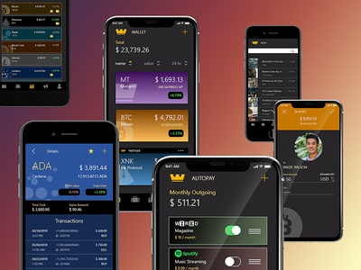 Monarch Crypto App ui mobile blockchain bitcoin cryptocurrency crypto monarch