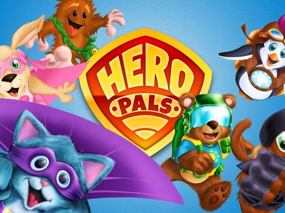 Hero Pals Team art book packaging characters branding design illustration