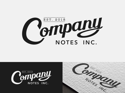 Company Notes Logo brand illustration type vector typography logo lettering design branding