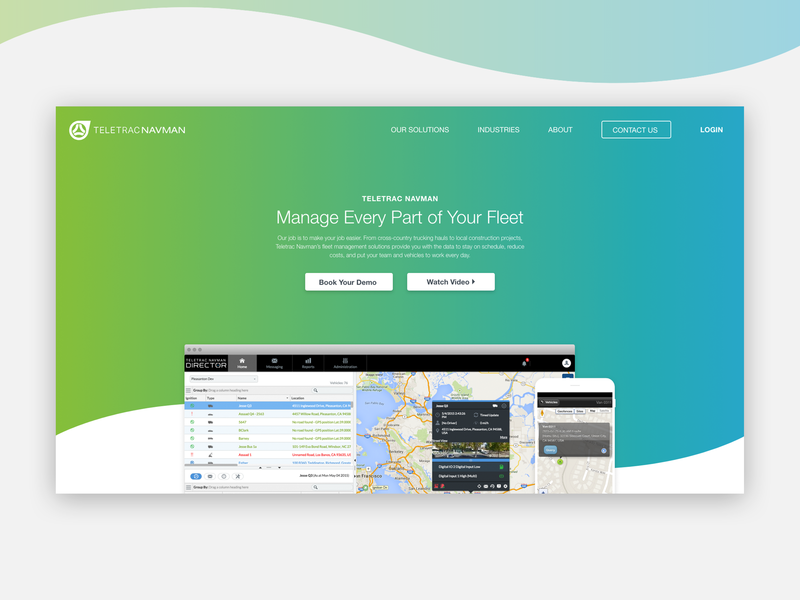 SaaS Company Home Page Concept by James Rammelsberg on Dribbble