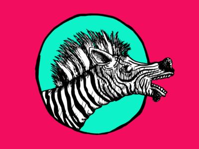 Punk Zebra Print