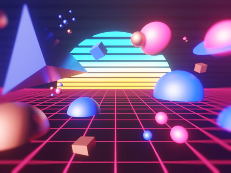 Retro Space Drive 3d art