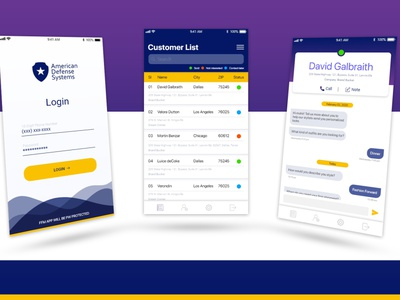 Mobile UI Design ui  ux customer defence ios android