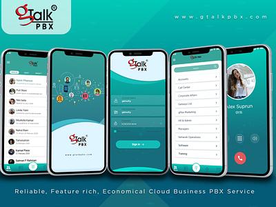 Mobile UI home office cloud app call design app mobile ui ui design pbx gtalk
