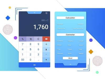 Calculator 004 notch pc-calculator mobilecalculator calculator dailyui