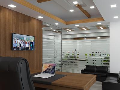 GSL_New_Office camera lighting coronarender autodesk max exterior design interior design office