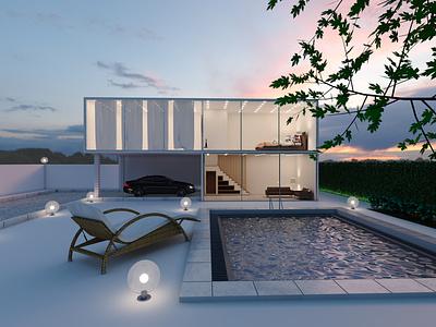 Super Duplex sky daylight sun hdri camera light car swimming pool duplex super