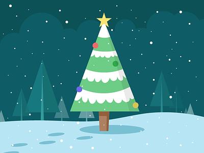 Tree christmas tree snow holidays winter