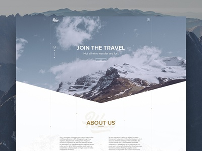 Hike - Travel Website website free homepage web ux ui site online minimal design hike travel