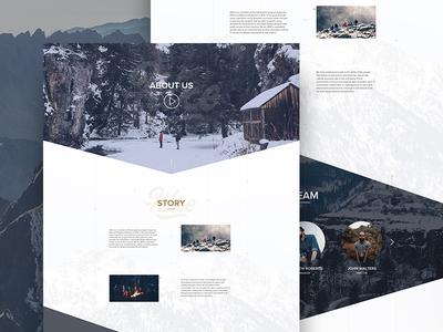Hike - Travel Website - About Us web ux ui website online minimal travel landing hike free design