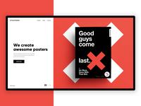 Cross Posters - Website Concept