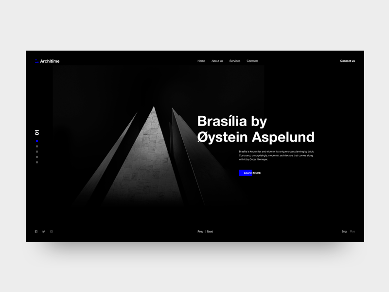 Architime - Architecture Studio Website design free typography landing architecture minimal online website ui ux web