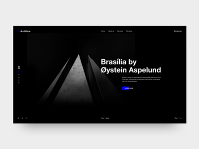 Architime - Architecture Studio Website design free typography landing architecture minimal online website ui ux web